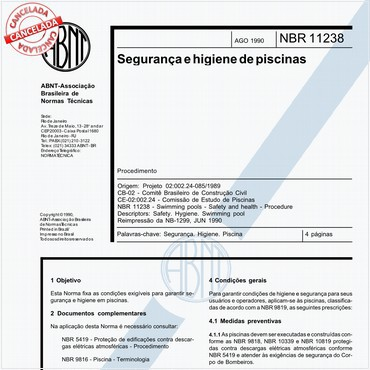 NBR11238 de 08/1990