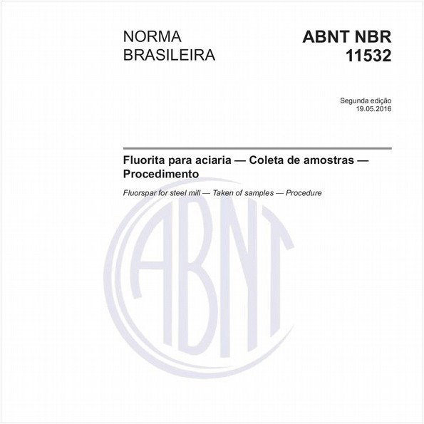 Fluorita para aciaria - Coleta de amostras - Procedimento