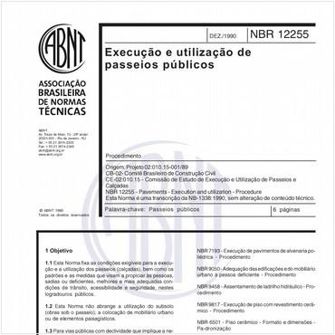 NBR12255 de 12/1990