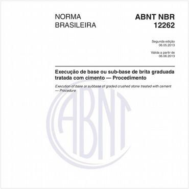 NBR12262 de 05/2013