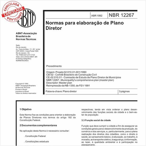 NBR12267 de 10/2013