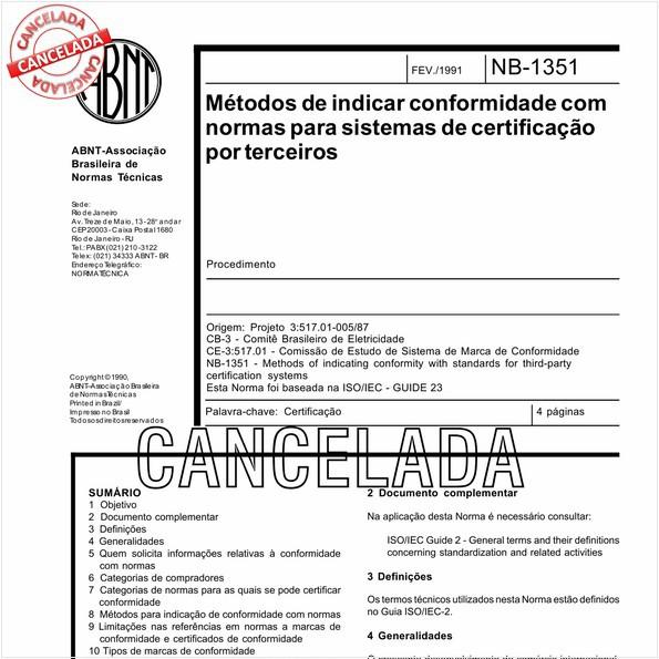 Métodos de indicar conformidade com normas para sistemas de certificação por terceiros
