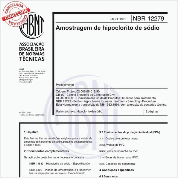 NBR12279 de 08/1991