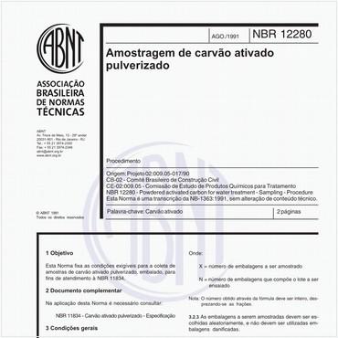 NBR12280 de 08/1991