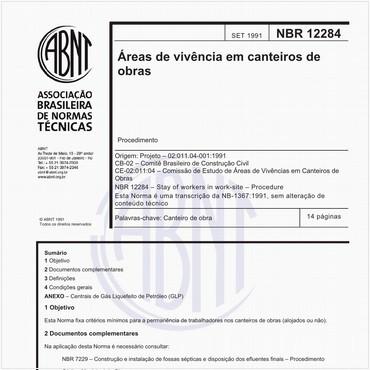 NBR12284 de 09/1991