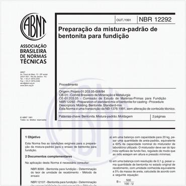 NBR12292 de 10/1991