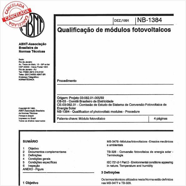 Qualificação de módulos fotovoltaicos