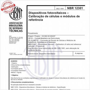 NBR12301 de 12/1991