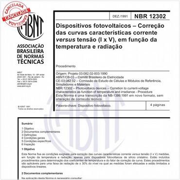 NBR12302 de 12/1991