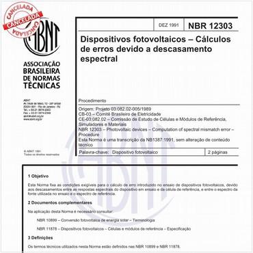 NBR12303 de 12/1991