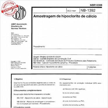 NBR12308 de 12/1991