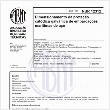 NBR12312 de 12/1991