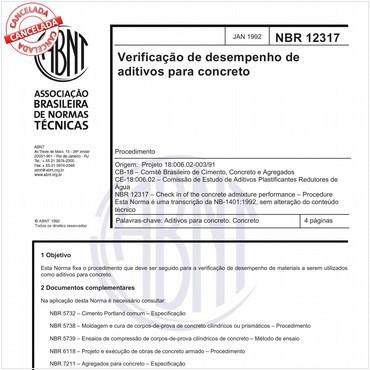 NBR12317 de 01/1992