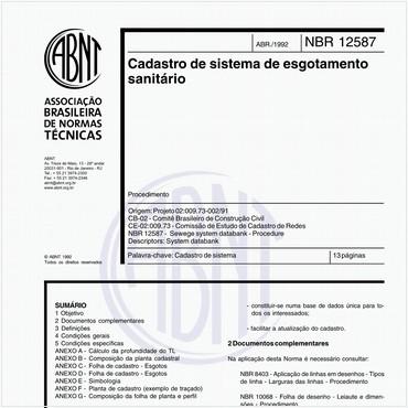 NBR12587 de 04/1992