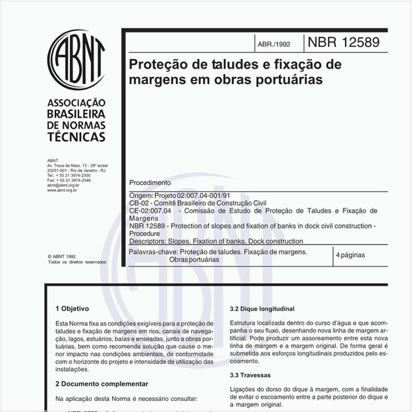 NBR12589 de 04/1992