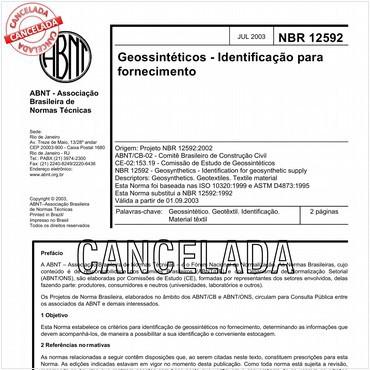 NBR12592 de 07/2003