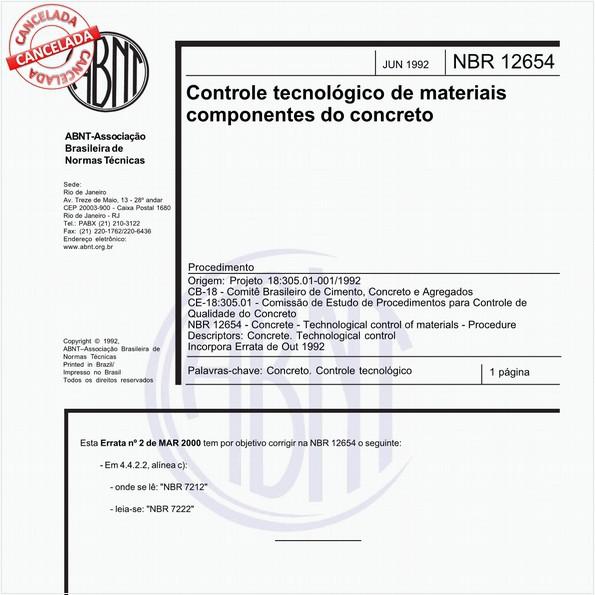 Controle tecnológico de materiais componentes do concreto