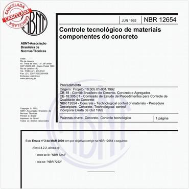 NBR12654 de 06/1992