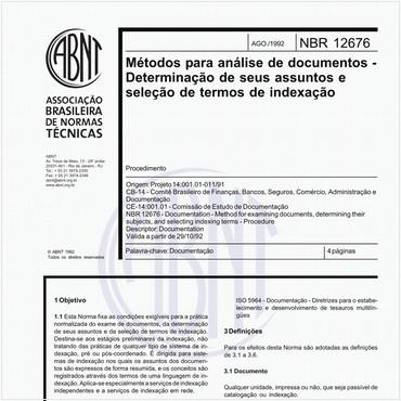 NBR12676 de 08/1992