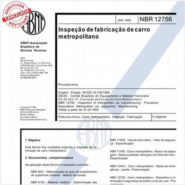 NBR12756 de 01/1993
