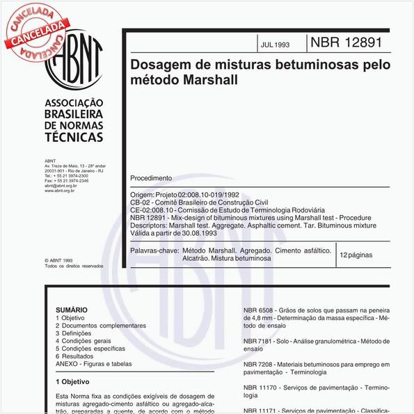 Dosagem de misturas betuminosas pelo método Marshall