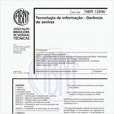 NBR12896 de 11/1993