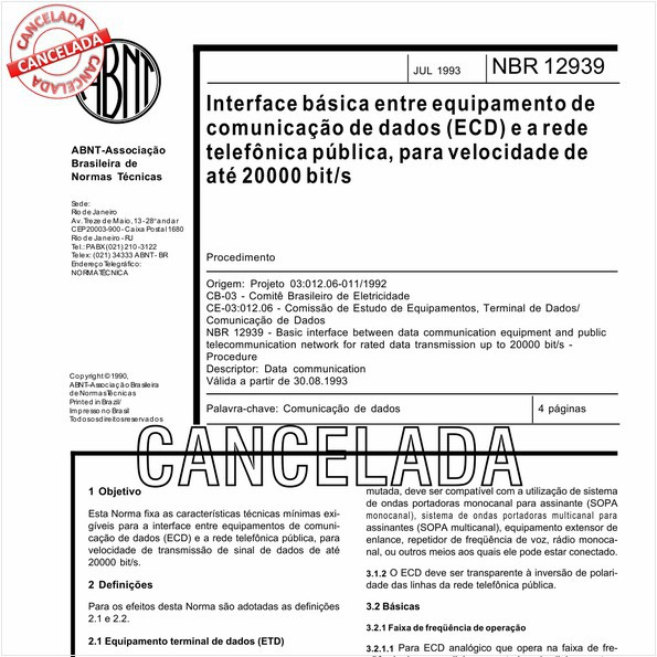 NBR12939 de 10/2012