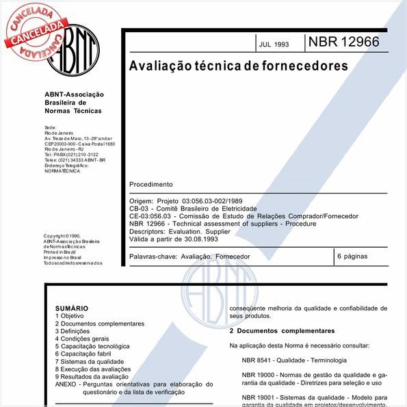NBR12966 de 11/2012