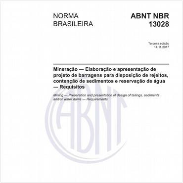 NBR13028 de 11/2017