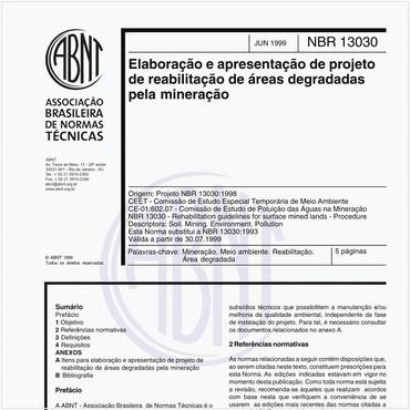 NBR13030 de 06/1999