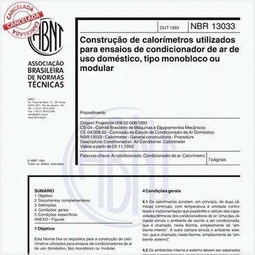 NBR13033 de 10/1993