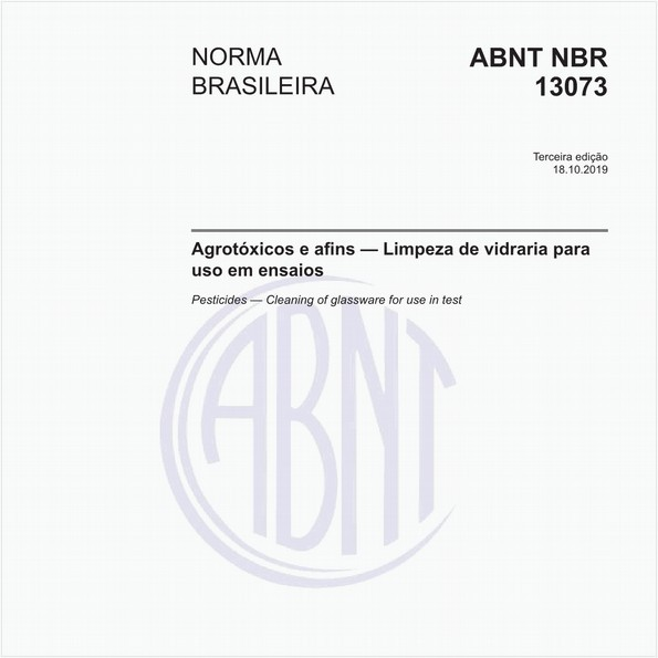 Agrotóxicos e afins - Limpeza de vidraria para uso em ensaios