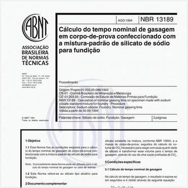 NBR13189 de 08/1994