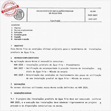 NBR5651 de 12/1977