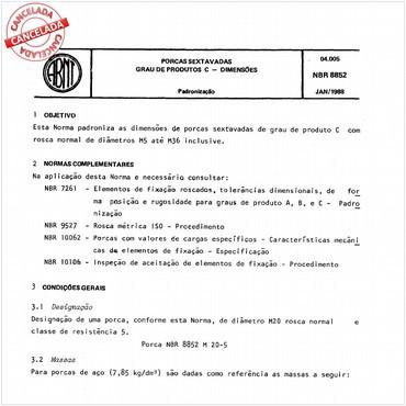 NBR8852 de 01/1988