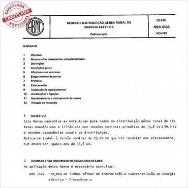 NBR5433 de 11/1982