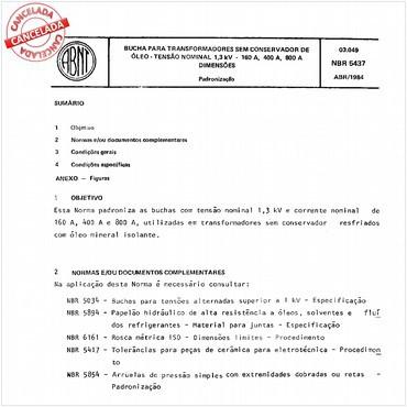 NBR5437 de 04/1984