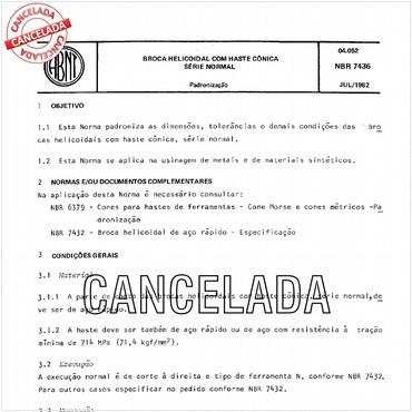 NBR7436 de 07/1982