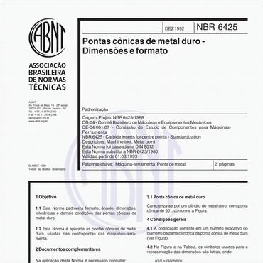 NBR6425 de 12/1992