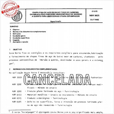 NBR5625 de 10/1982