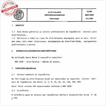 NBR5254 de 07/1982