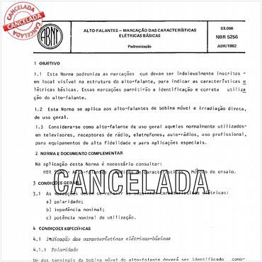 NBR5256 de 04/1982