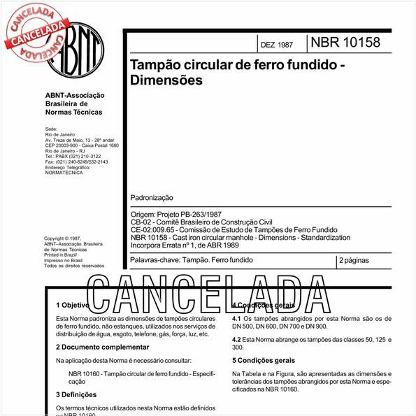 NBR10158 de 09/2005