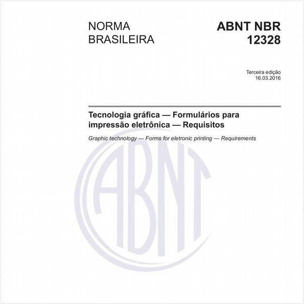 Tecnologia gráfica — Formulários para impressão eletrônica — Requisitos
