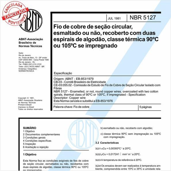 NBR5127 de 12/2016