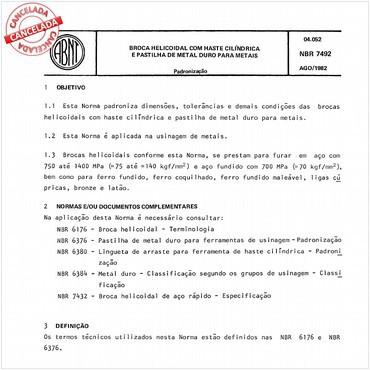 NBR7492 de 08/1982