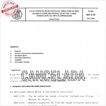NBR5130 de 07/1981