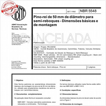 NBR5548 de 09/1992