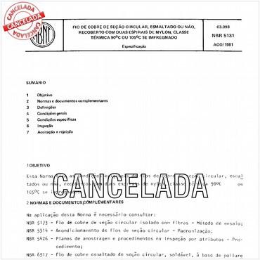 NBR5131 de 08/1981