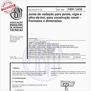NBR5936 de 11/1989